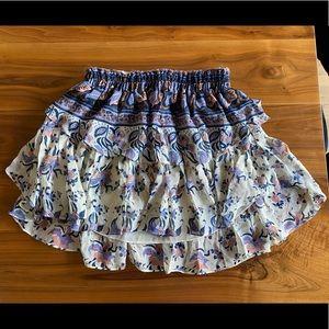 Loveshackfancy silk skirt